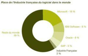 place industrie logicielle monde