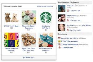Réseaux Sociaux: Facebook initie le F-Commerce avec sa nouvelle boutique cadeaux