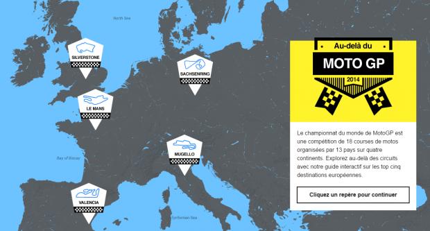 Découvrez le guide de voyage interactif « Au-delà du MotoGP » créé par Hertz