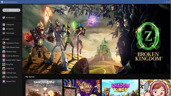 Facebook lance Gameroom, sa plateforme de jeux vidéos