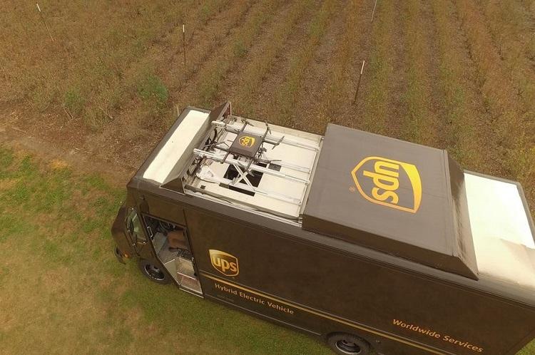 [Vidéo]: UPS teste un drone de livraison partant depuis un camion