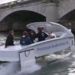 """Finalement, le test des taxis Seabubbles """"volant"""" sur la seine n'aura pas lieu"""