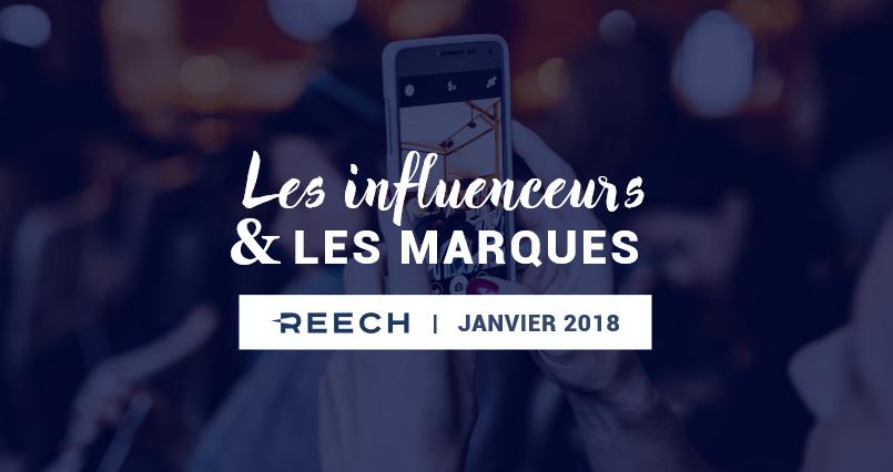 Infographie: L'interaction entre marques et influenceurs en 2018