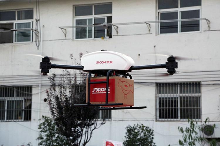 En Chine, JD.com effectue déjà des livraisons de colis par drones dans deux provinces