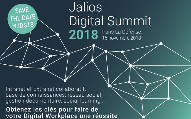 Le Jalios Digital Summit 2018 se tiendra le 15 novembre 2018