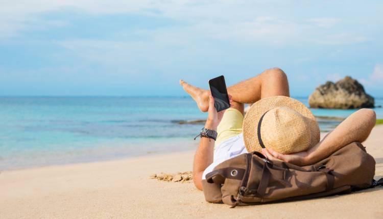 smartphne beach
