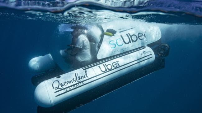 [Vidéo]:Uber choisit l'Australie pour lancer ScUber, son service de location de sous-marin à la demande