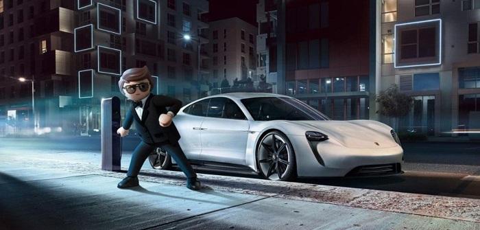 [Vidéo]:Porsche met en scène sa voiture électrique Mission E dans les films Playmobile