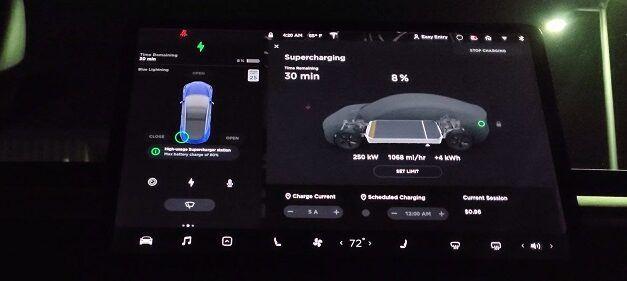 [Vidéo]: Regardez un superchargeur Tesla V3 ajouter 160km d'autonomie en 7 minutes