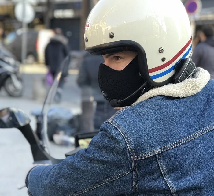 R-Pur Nano, le masque anti-pollution pour moto made in France