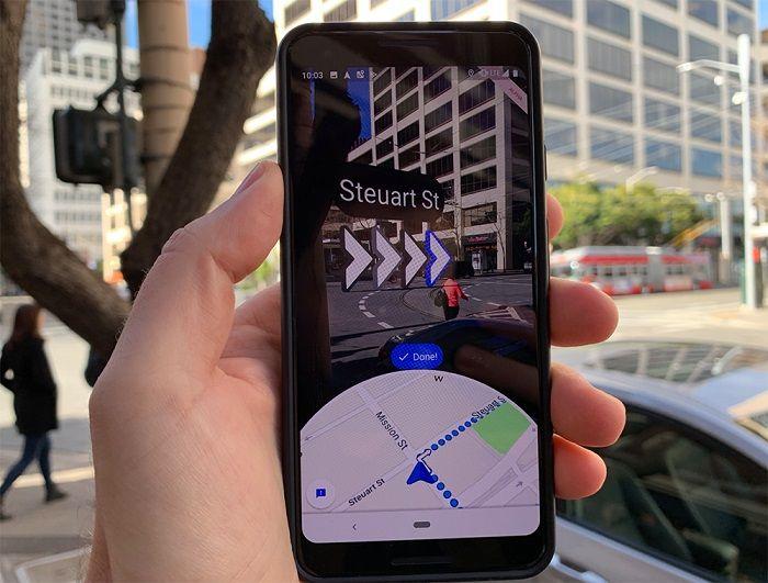 """Google lance """"Live View"""" un système de navigation piétonne en temps réel"""