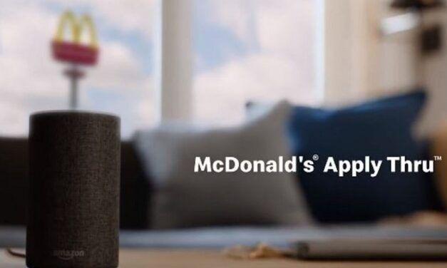 McDonald's publie ses offres d'emplois sur Alexa et Google Assistant grâce à Apply Thru