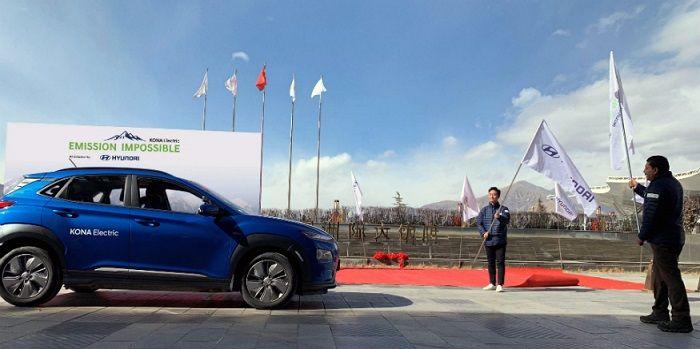 Le Hyundai Kona sera le premier véhicule électrique à franchir le mont Everest