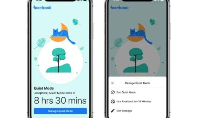 """Facebook déploie un nouveau """"mode silencieux"""" permettant de désactiver les notifications push de l'application"""