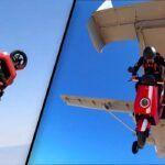 [Vidéo]: Un cascadeur effectue un saut en scooter avec un Niu Electric