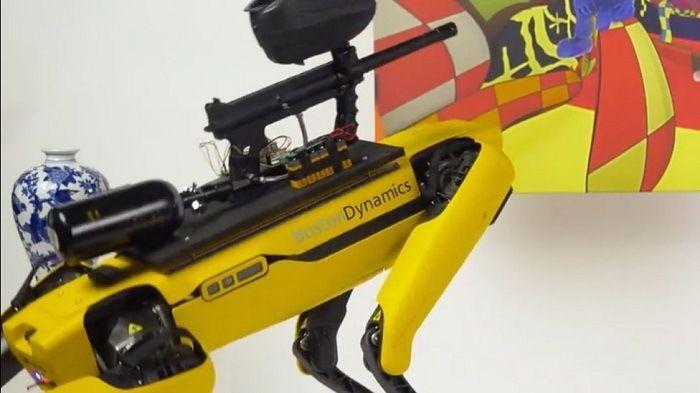 robot spot mini guerre